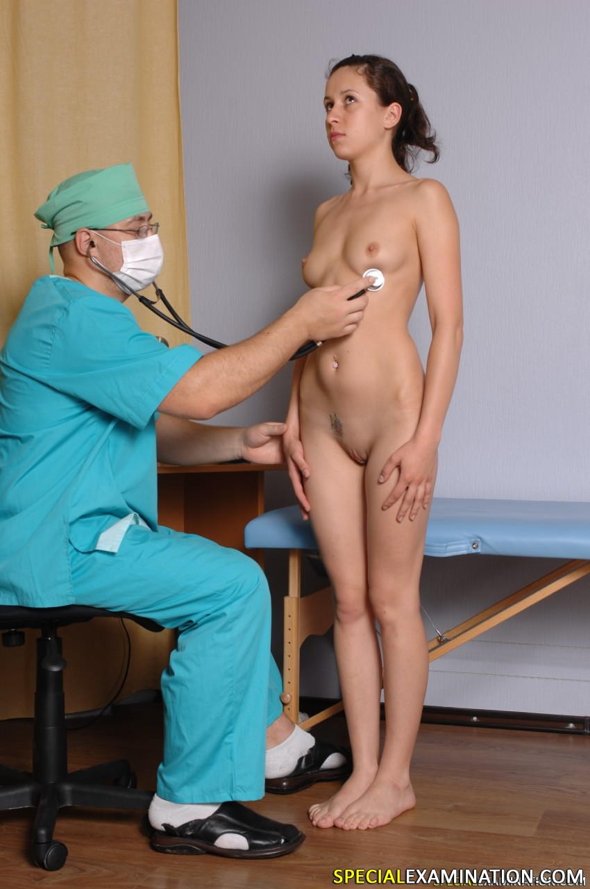 Female doctor nude patient examining